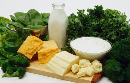 Молочно-кислые продукты и зелень