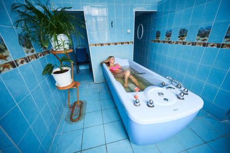 Прием целебных ванн